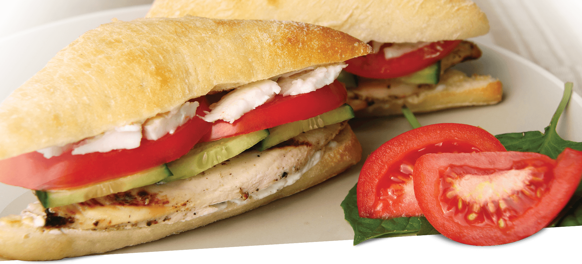 Greek Chicken Sandwich header BG