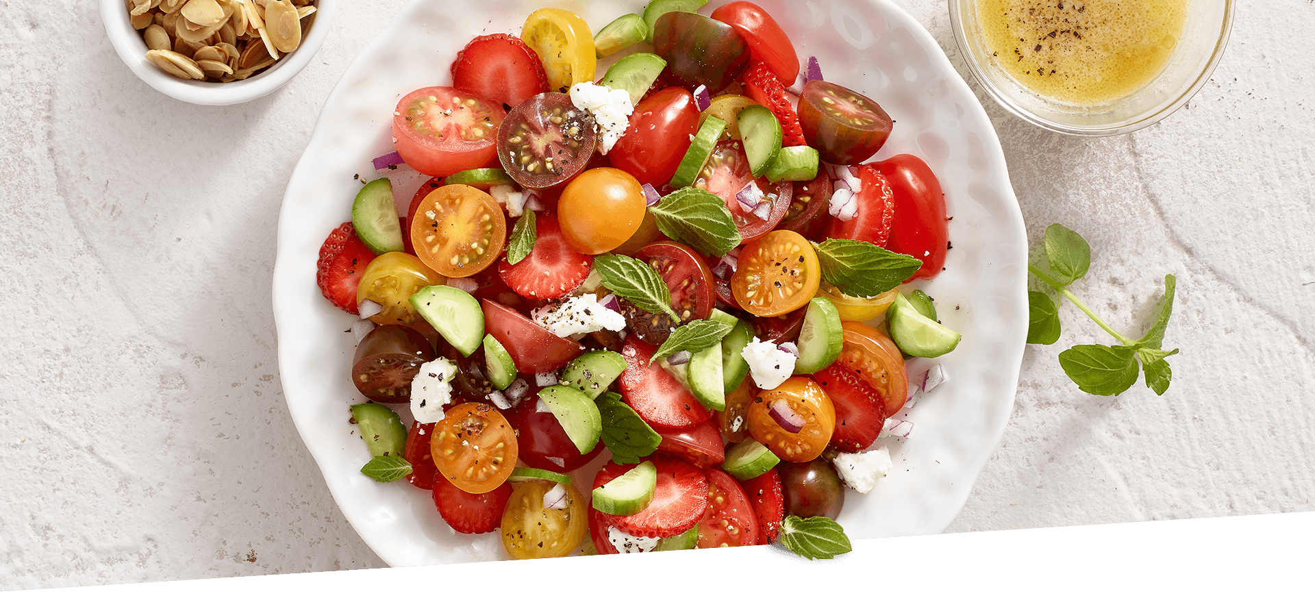 Tomato Strawberry Salad header BG