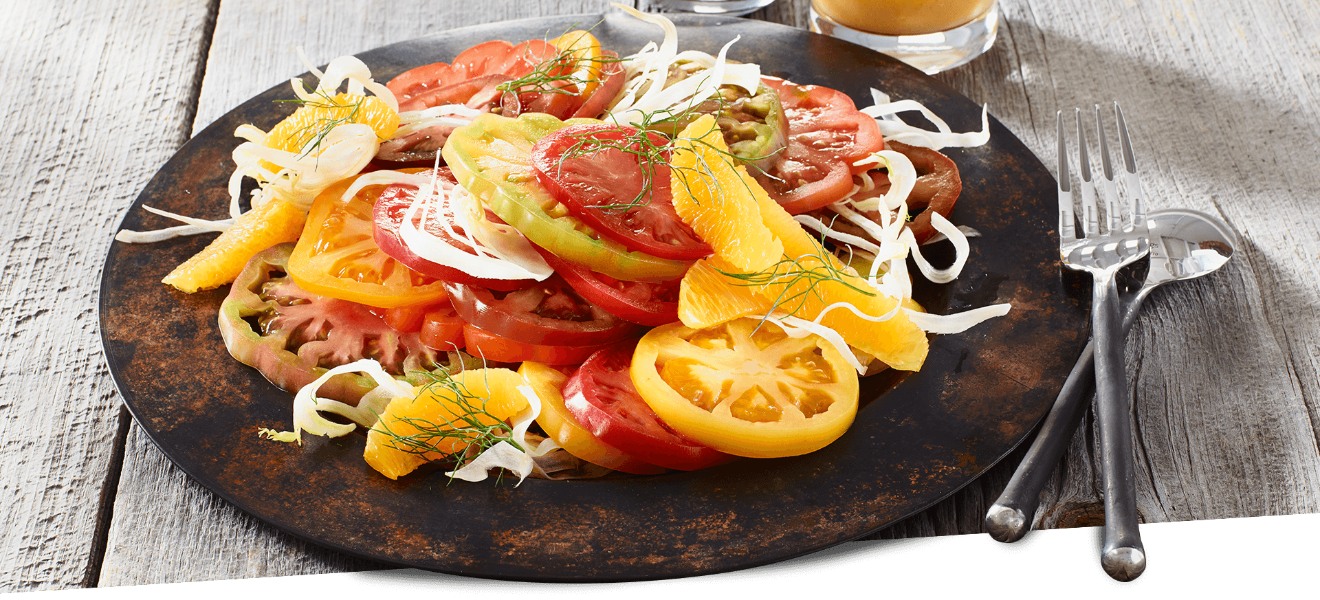 Heirloom Tomato Salad header BG