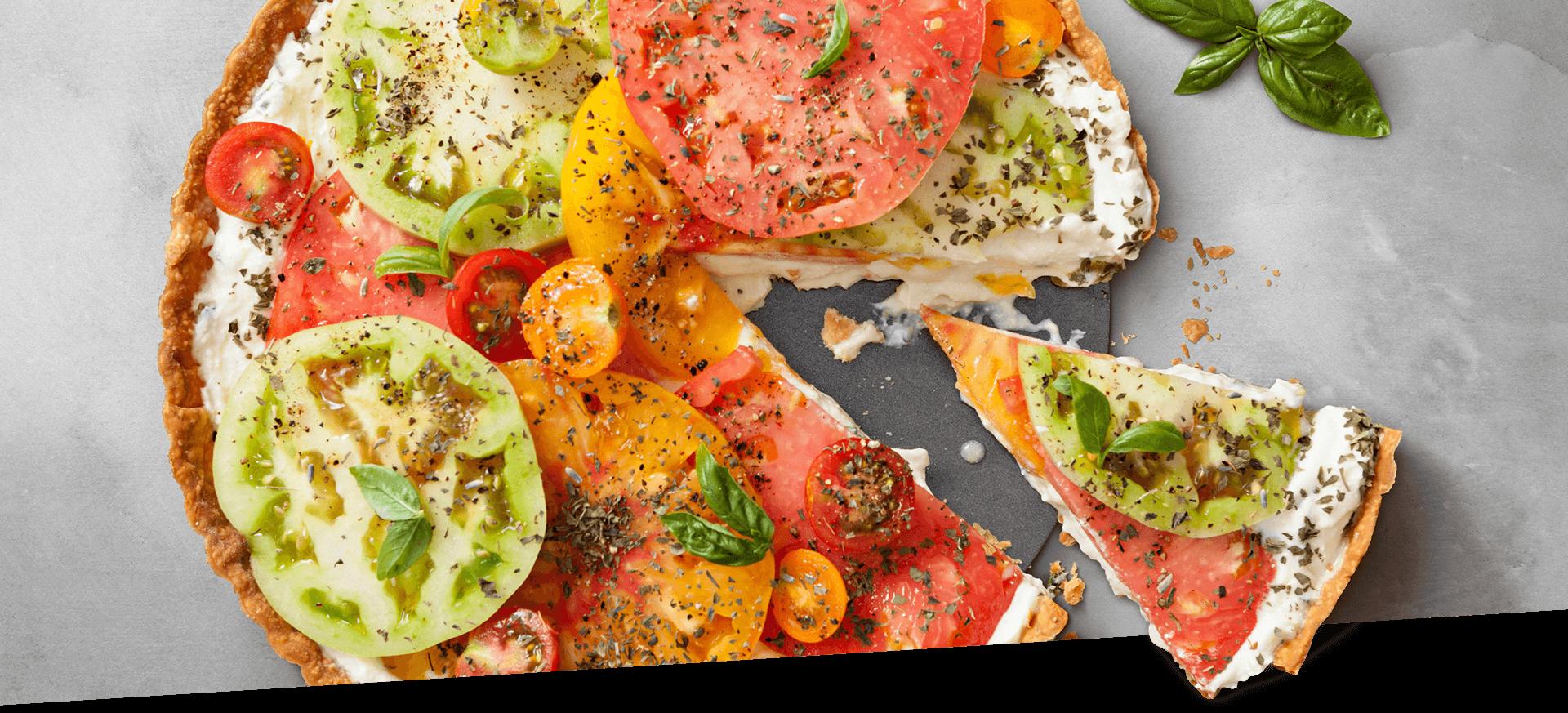 Hierloom Tomato Tart header BG
