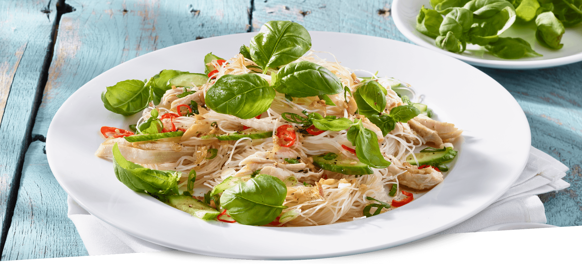 basil chicken salad header