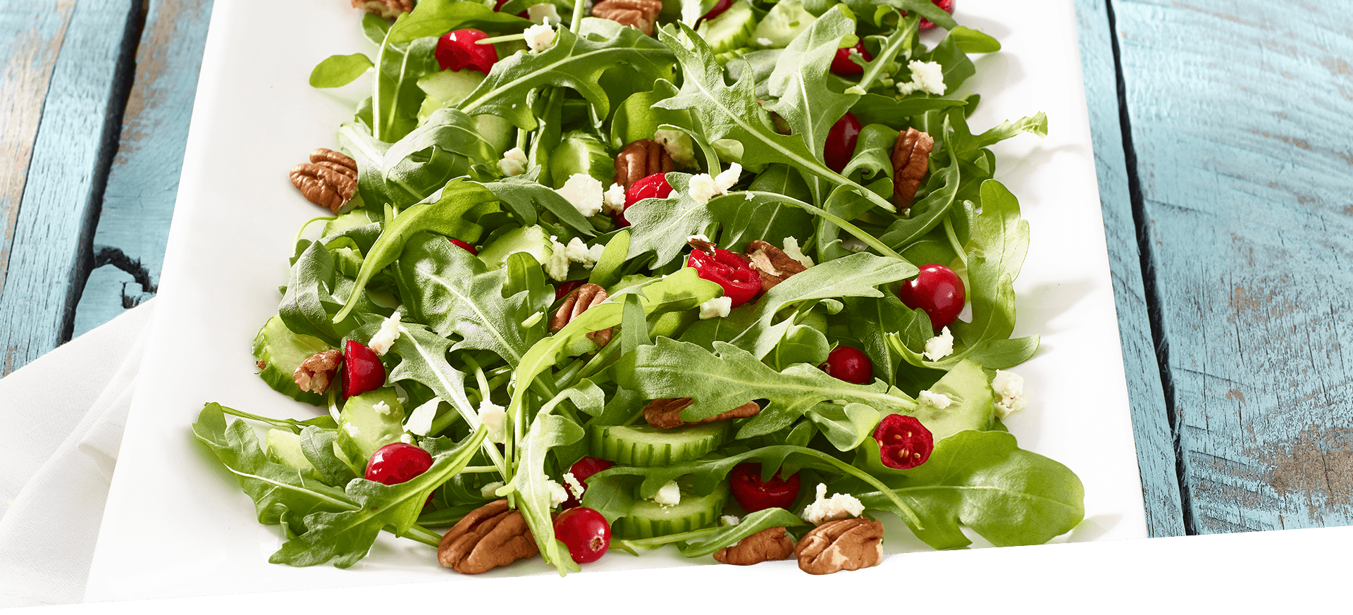 Fresh Arugula Salad header BG