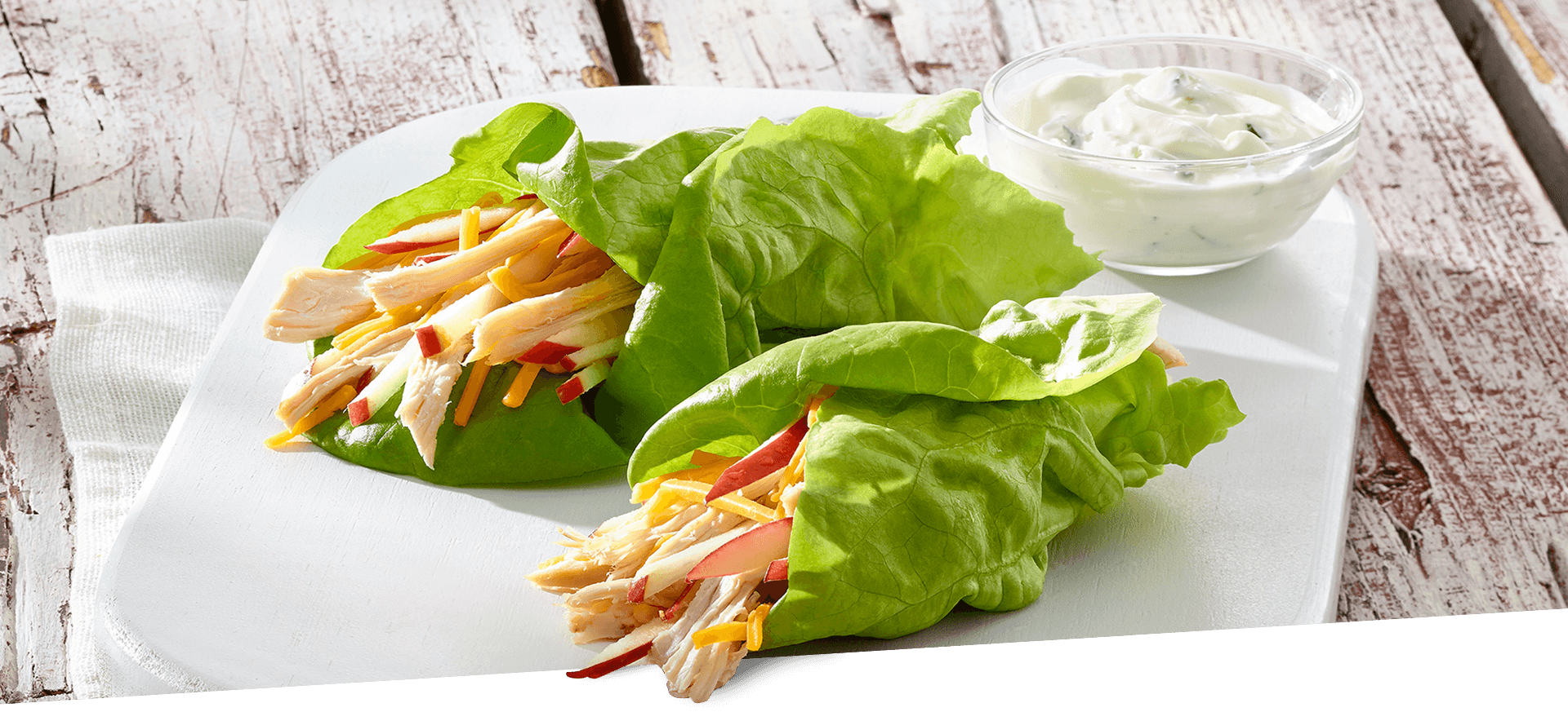 Chicken Lettuce Wrap header BG