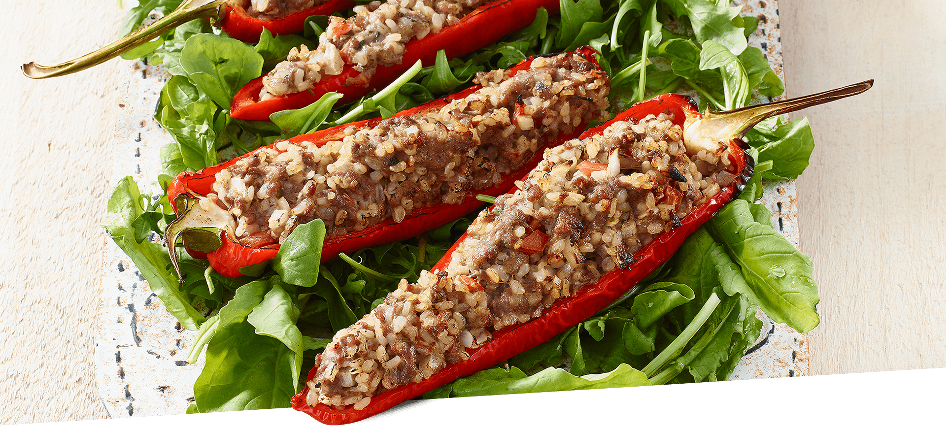 Turkey Stuffed Sweet Peppers header BG