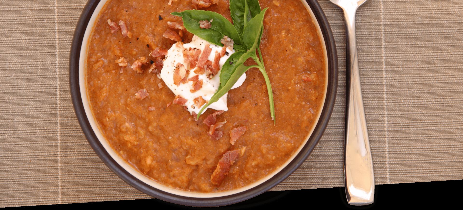Roasted Tomato Garlic Soup header BG