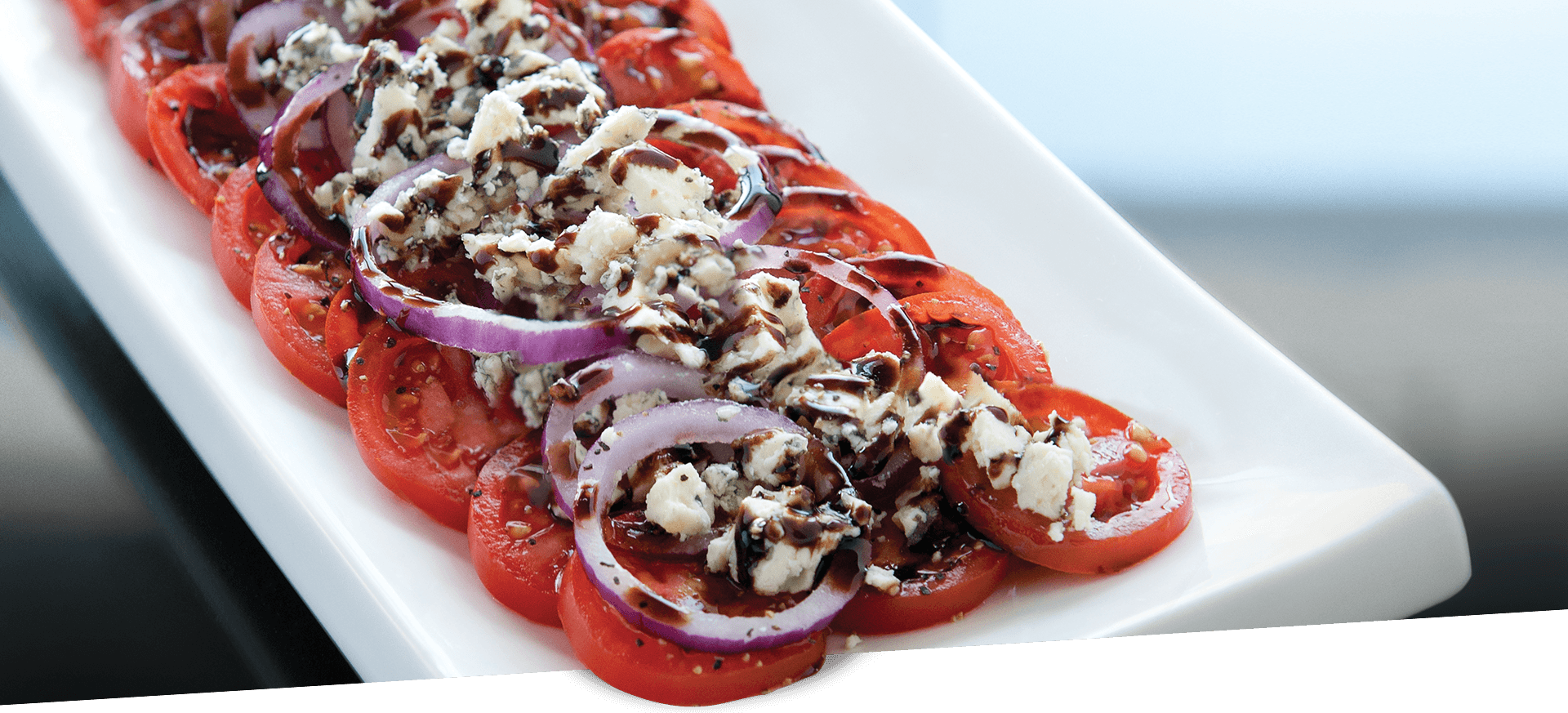 Sliced Tomatoes with Blue Cheese header BG