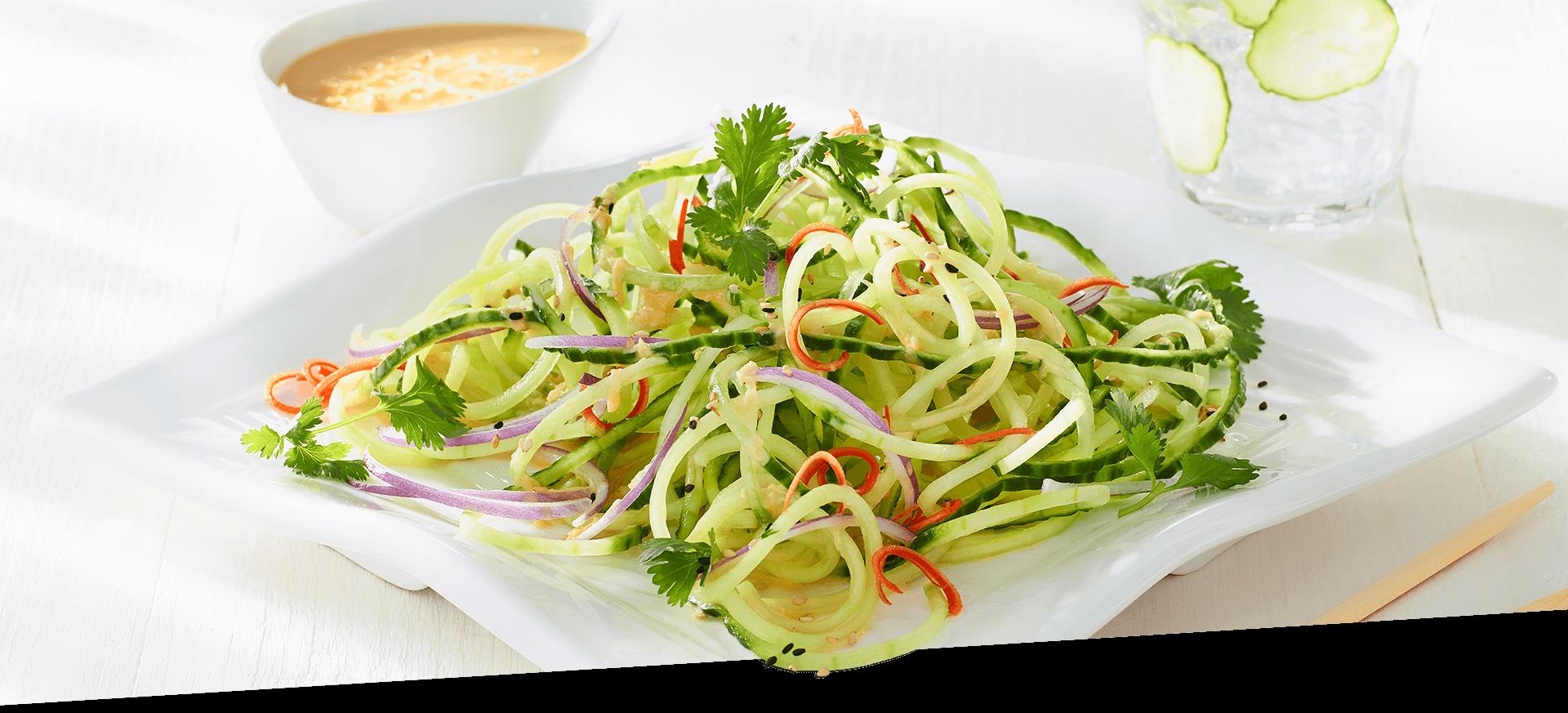 Cucumber Noodle Salad header BG