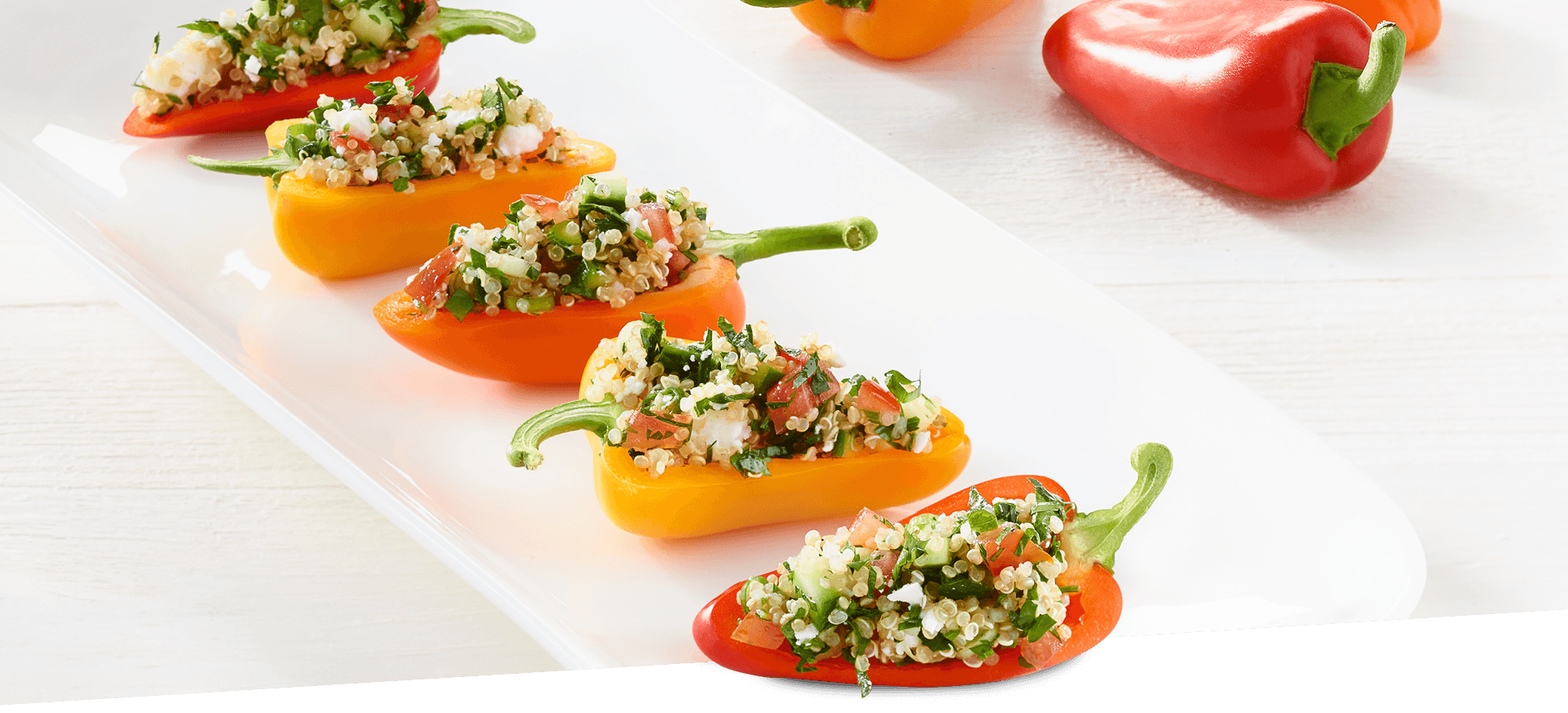 Quinoa Stuffed Mini Peppers header BG