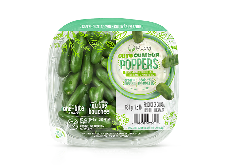 cutecumber poppers 1.5lb