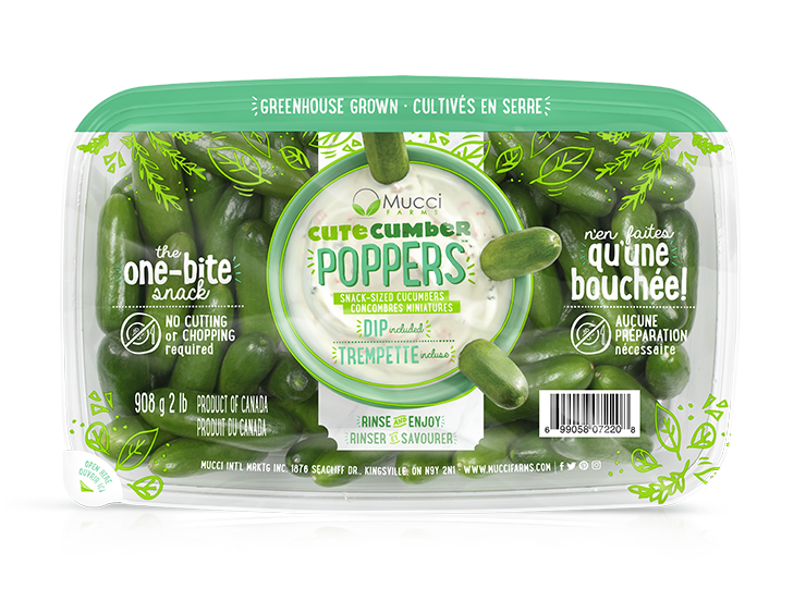 cutecumber poppers 2lb