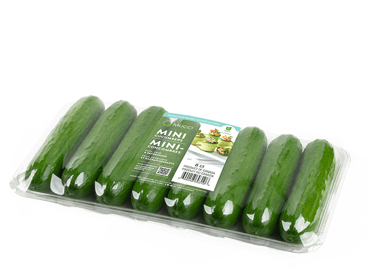 mini cucumbers 8ct clear tray