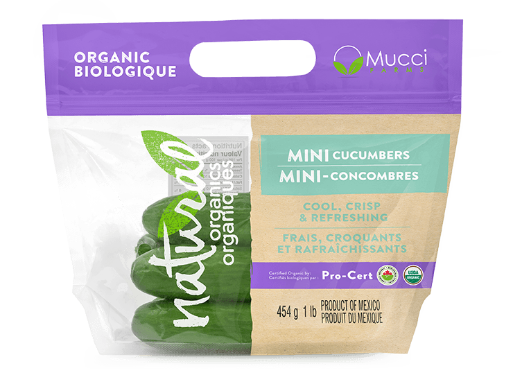 organics mini cuke  pro cert