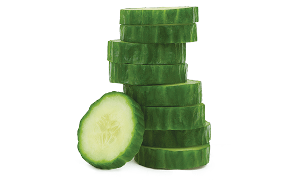 seedless cucumbers loose product shot