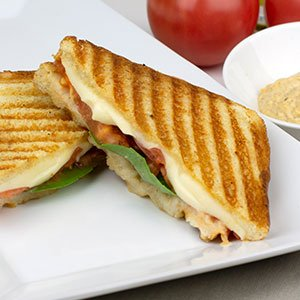 pink gourmet panini sandwich index image