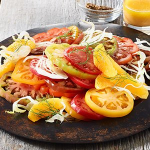 hierloom tomato salad index image