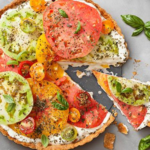 hierloom tomato tart index image
