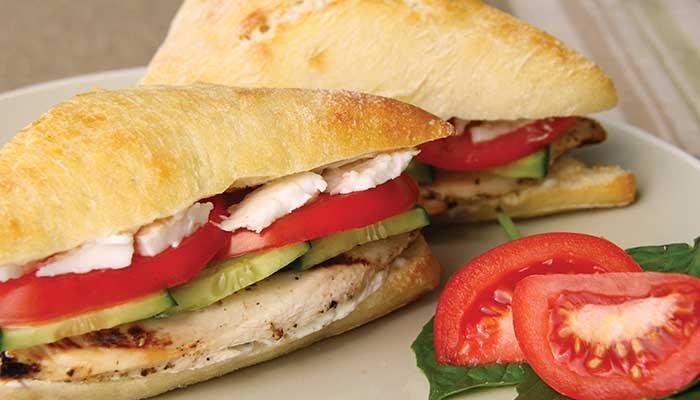 greek chicken sandwich display image