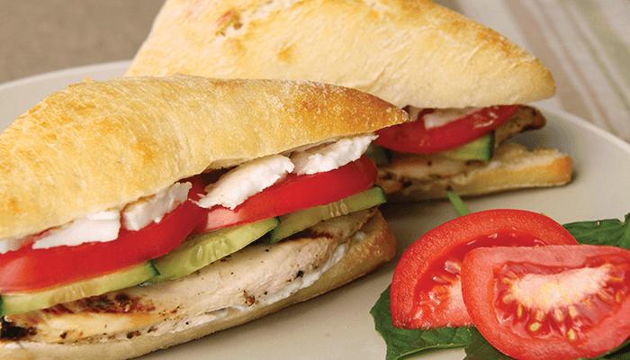 Greek Chicken Sandwich slider image