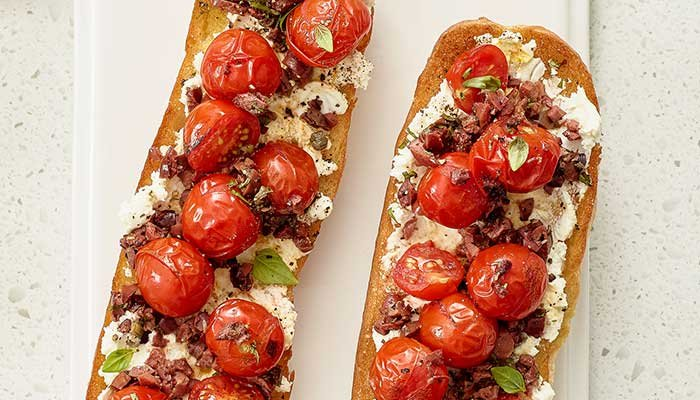 cherry tomato bruschetta display image