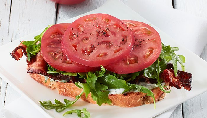pink gourmet blt display image