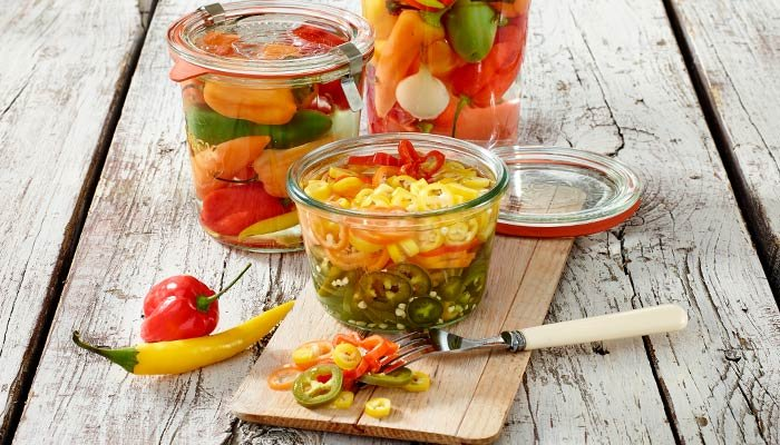 pickled mixed hot peppers display image