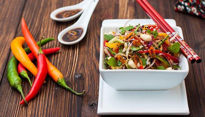 spicy thai noodles display image