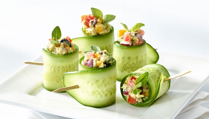 greek cucumber rolls display image