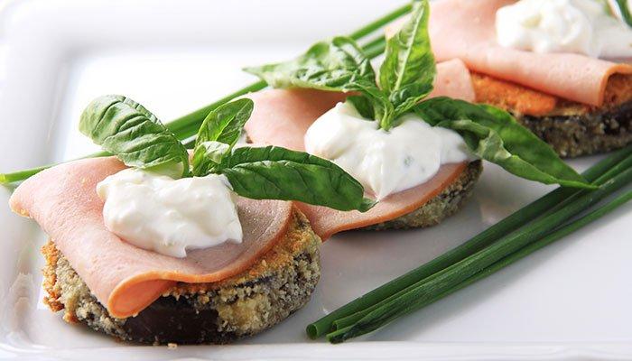 almond crusted eggplant display image