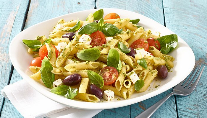 basil pasta salad display image