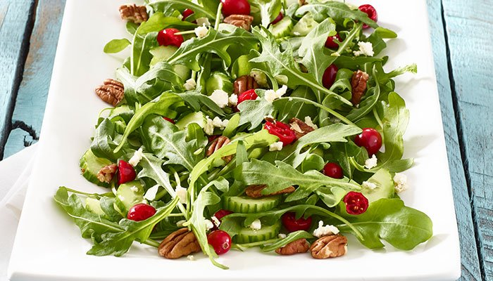 fresh arugula salad display image