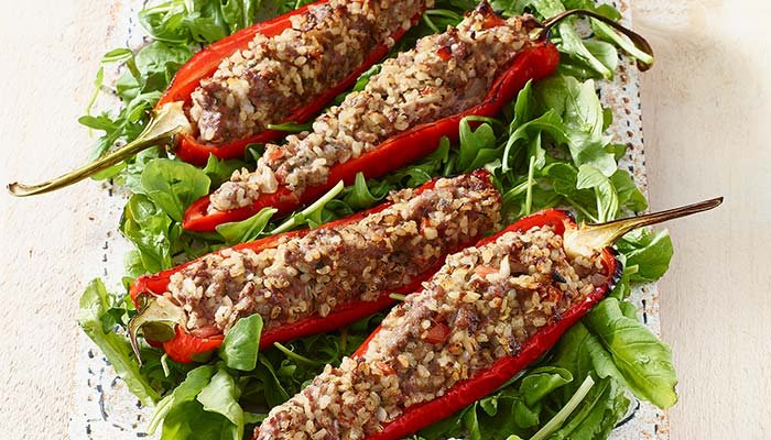 turkey stuffed sweet pepper display image