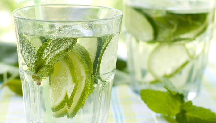 cucumber water display image