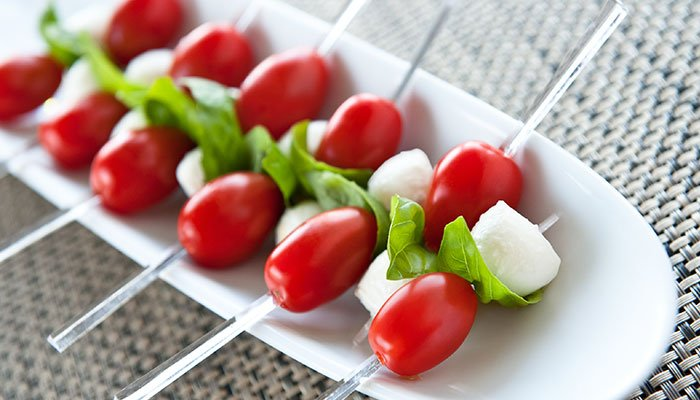 caprese skewers display image