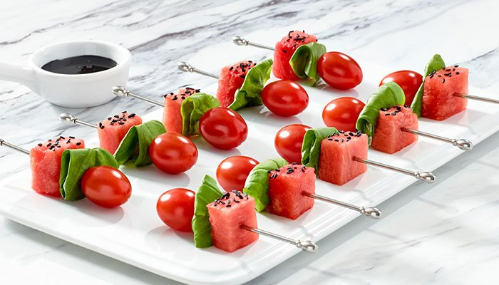tomato watermelon skewers display image