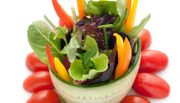 garden salad display image