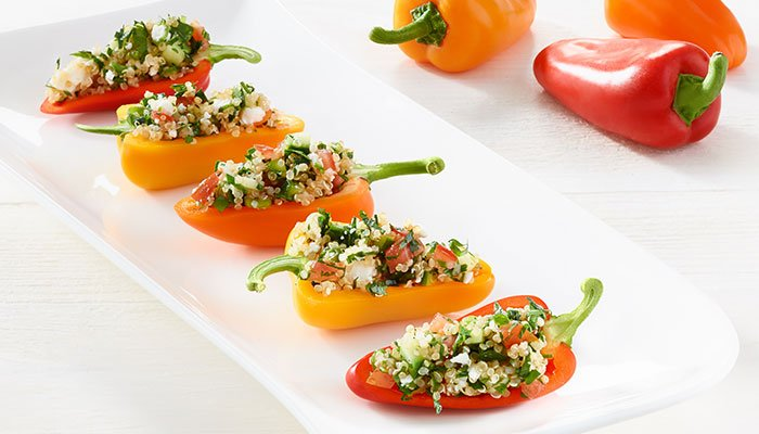 quinoa stuffed mini peppers display image