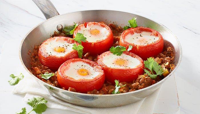 huevos tomatoes display image